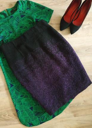 Стильная теплая юбка карандаш