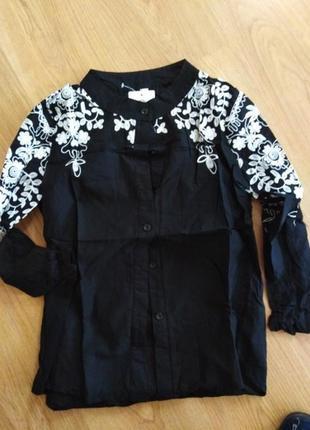 #розвантажуюсь шикарная блуза с вышивкой9 фото