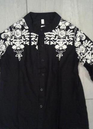 #розвантажуюсь шикарная блуза с вышивкой7 фото