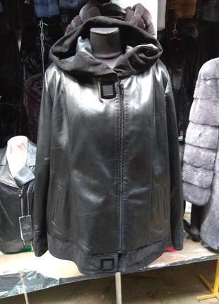 Курточка натуральная кожа с подстежкой овчина турция