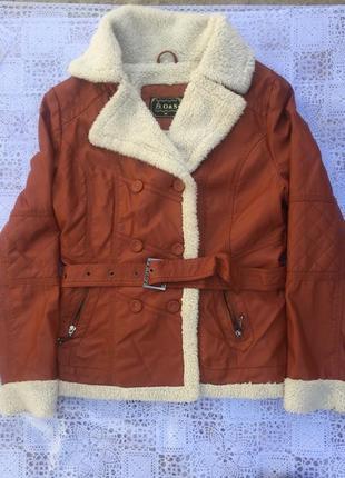 Куртка на теплой покладке еко овчина