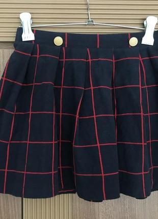 Стильная клетчатая юбка zara, 9-10 лет, 140 см, пр-во португалия