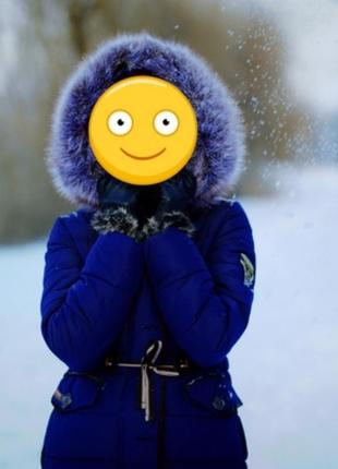 Очень теплый зимний пуховик/парка на тинсулейте размер м