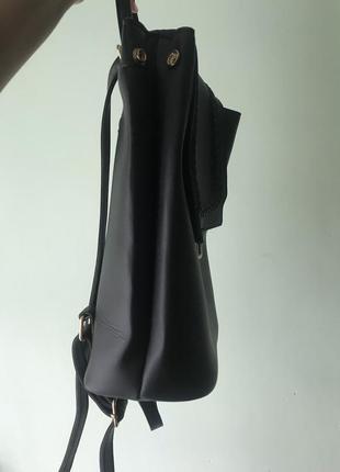 Чорна жіноча сумка-рюкзак з еко-шкіри від «gepur»