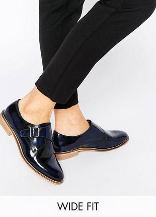 Туфли лоферы броги кожаные натуральные асос asos
