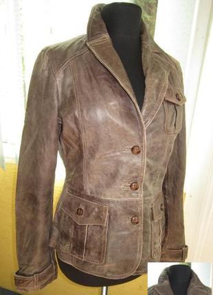 Классная женская кожаная куртка tom tailor. англия.  лот 554