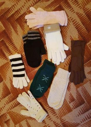 Перчатки женские вязянные