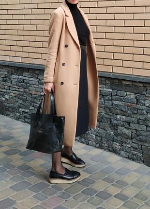 Стильные туфли лоферы криперы кожа черные р.40 португалия на платформе apple of eden