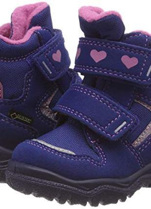 Зимние ботинки суперфит superfit модель husky с мембраной gore tex синие