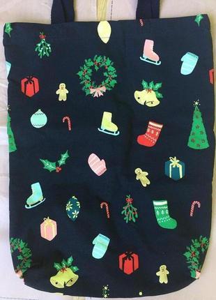 Сумка - шоппер  для покупок эко-сумка авоська тканевая от next 100% хлопок