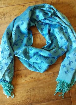 Женский двухсторонний шарф louis vitton