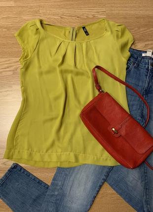 Фирменная легкая блуза ann christine,базовая блузочка