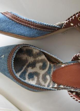 Туфли just cavalli 36 р италия новые кожа джинс