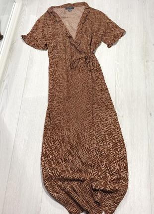 Шикарное платье на запах в горох primark