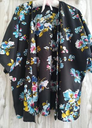Накидка*летняя накидка*кимоно*принт цветы