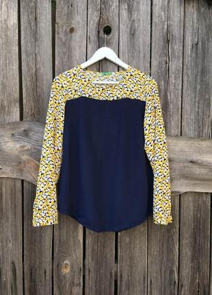 Блузка рубашка женская цветы вискоза