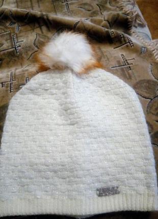 Двойная тёплая шапка