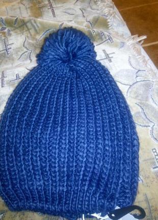 Стильная тёплая шапочка