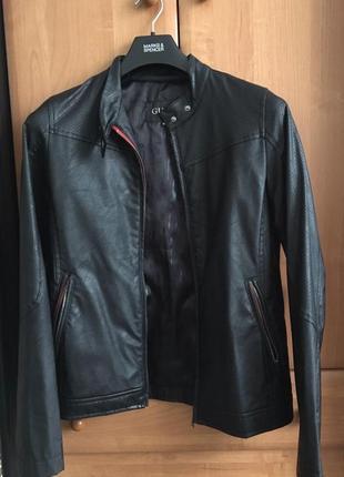 Куртка из искусственной кожи, мото куртка
