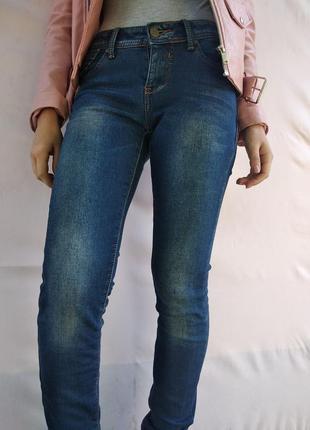Теплые скини джинсы