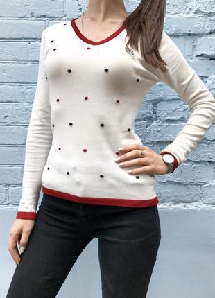 Свитер пуловер женский молочный