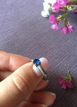 Красивое кольцо серебро 925