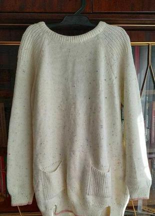 Объемный свитер туника oversize