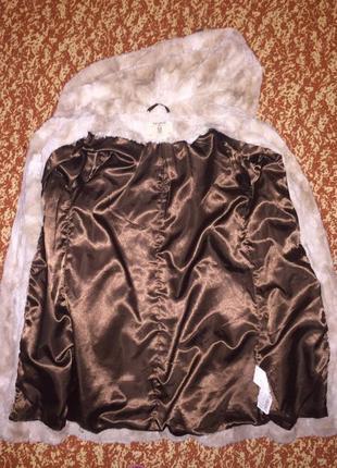 Пальто искусственный мех pull&bear