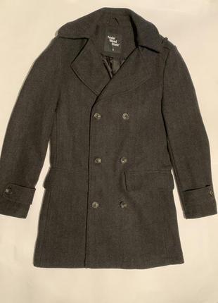 Шерстяное двубортное пальто cedarwood state