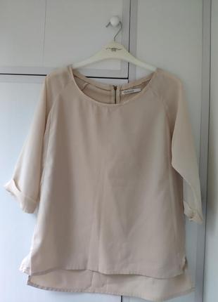 Нюдовая блуза stradivarius
