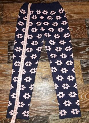 Теплые штанишки лосины для девочки