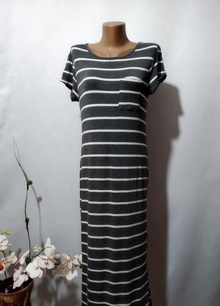 Платье футболка в полоску