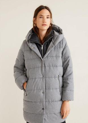 Mango стеганная  куртка, теплая стильная модель  оверсайз   р.l-xl ! оригинал!