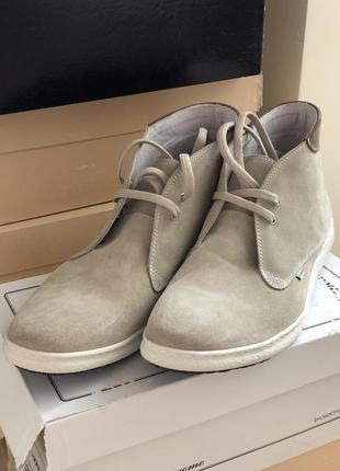 Мужские замшевые туфли осень италия