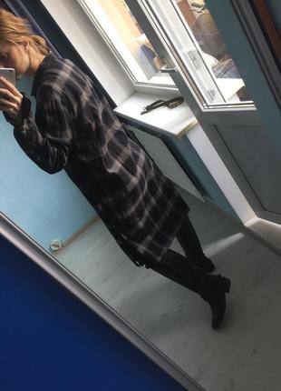 Длинная фланелевая рубашка