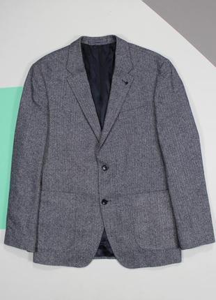 Первоклассный приталенный блейзер с накладными карманами от tommy hilfiger