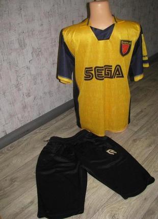 Форма футбольная s р. 44-46 bergkamp номер 10 спортивная футболка шорты