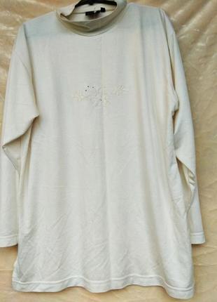 Гольф водолазка белая свитер длинный рукав