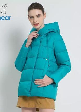 Голубой бирюзовый пуховик куртка icebear
