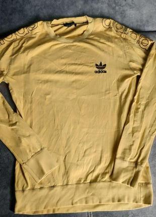 Кофта мужская adidas, размер l, желтая