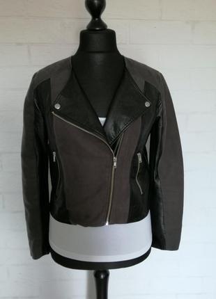 Куртка косуха со вставками из кожзама