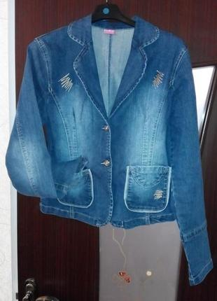 Новый джинсовый пиджак