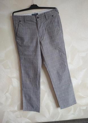 Фирменные брюки в клетку zara