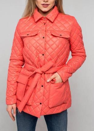 Осенняя коралловая куртка| акционная цена| высокое качество| есть опт