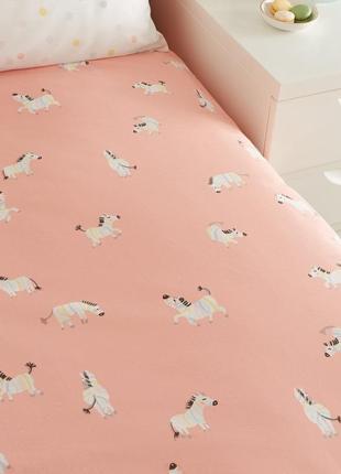 Полуторный постельный комплект зебра new look, новый