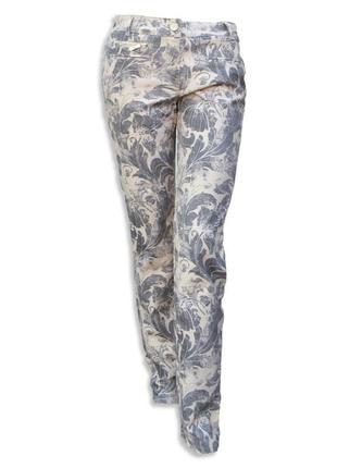 Светлые штаны джинсы в цветочный принт recover pants