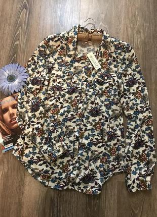 Цветная рубашка- блуза