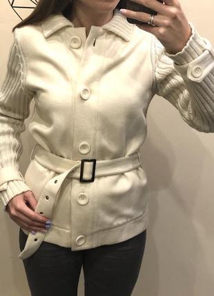 Шерстяной кардиган - короткое пальто