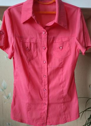 Рубашка блуза с коротким рукавом