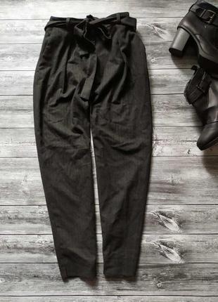 Штаны брюки сигареты высокая посадка  теплые zara